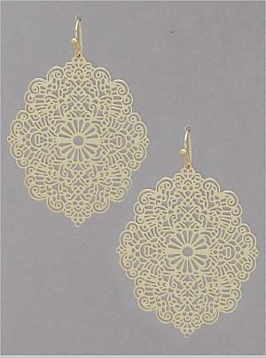 filigree gold earring