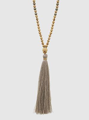 gold tassle necklace