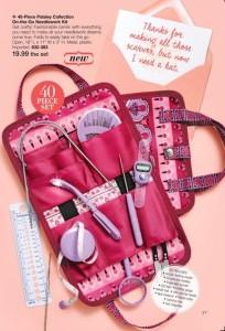 40piece Paisley Collection On the Go Needlework Kit